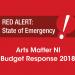 Arts Matter NI Budget Response 2018 FINAL